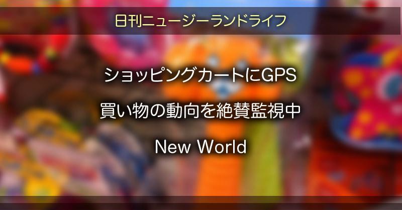 カートにGPS 買い物の動向を絶賛監視中 New World