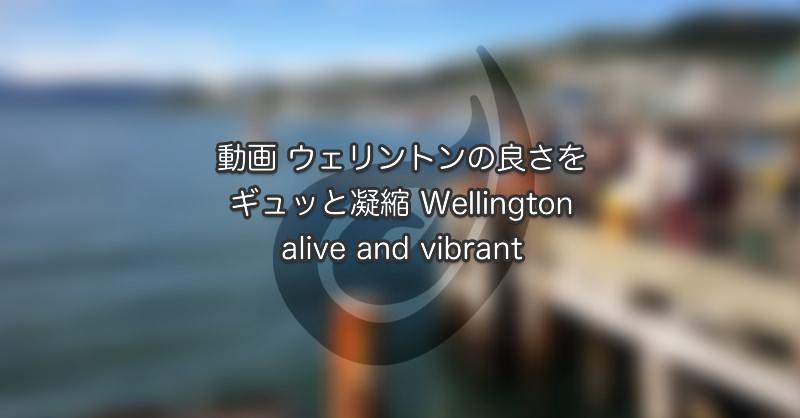 動画 ウェリントンの良さをギュッと凝縮 Wellington – alive and vibrant