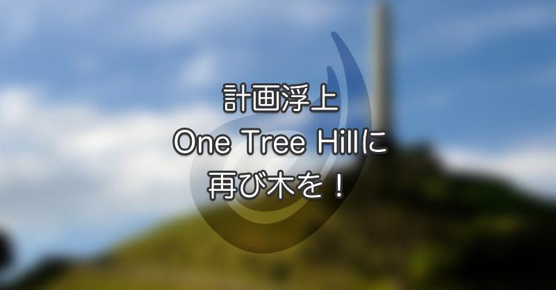計画浮上 One Tree Hillに再び木を!