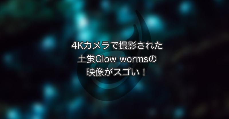 4Kカメラで撮影された土蛍Glowwormsの映像がスゴい!