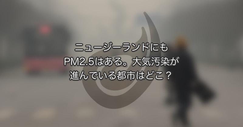 ニュージーランドにもPM2.5はある。大気汚染が進んでいる都市はどこ?