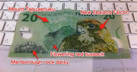 ニュージーランドの20ドル札に載ってるもの
