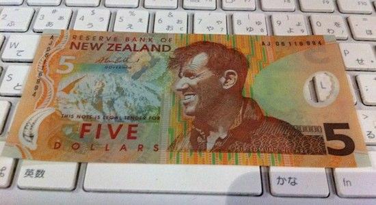 ニュージーランドの5ドル札に載ってるもの