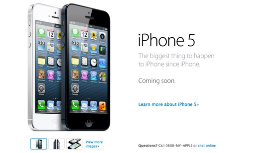 """iPhone 5″ニュージーランドは9月28日に発売!"