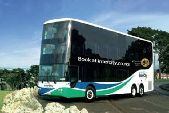 InterCityがニュージーランド初の3階建てバスを導入