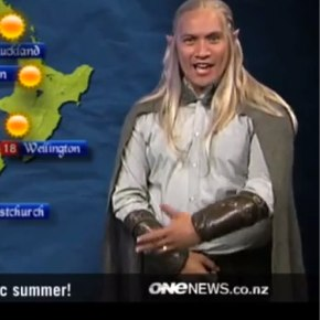 世界初!ONE NEWSでエルフ語の天気予報
