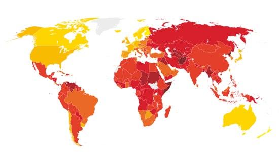 世界一汚職が少ない国ニュージー。日本は何位?
